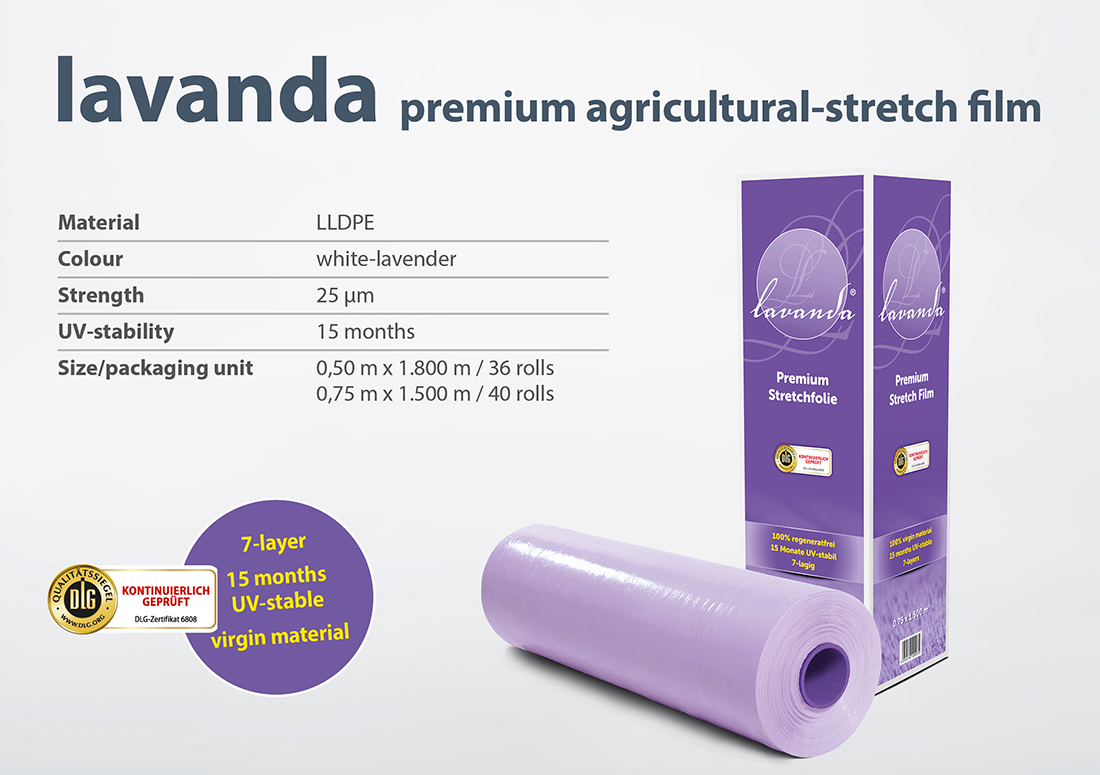 Zill premium agricultural stretch film lavanda specifications