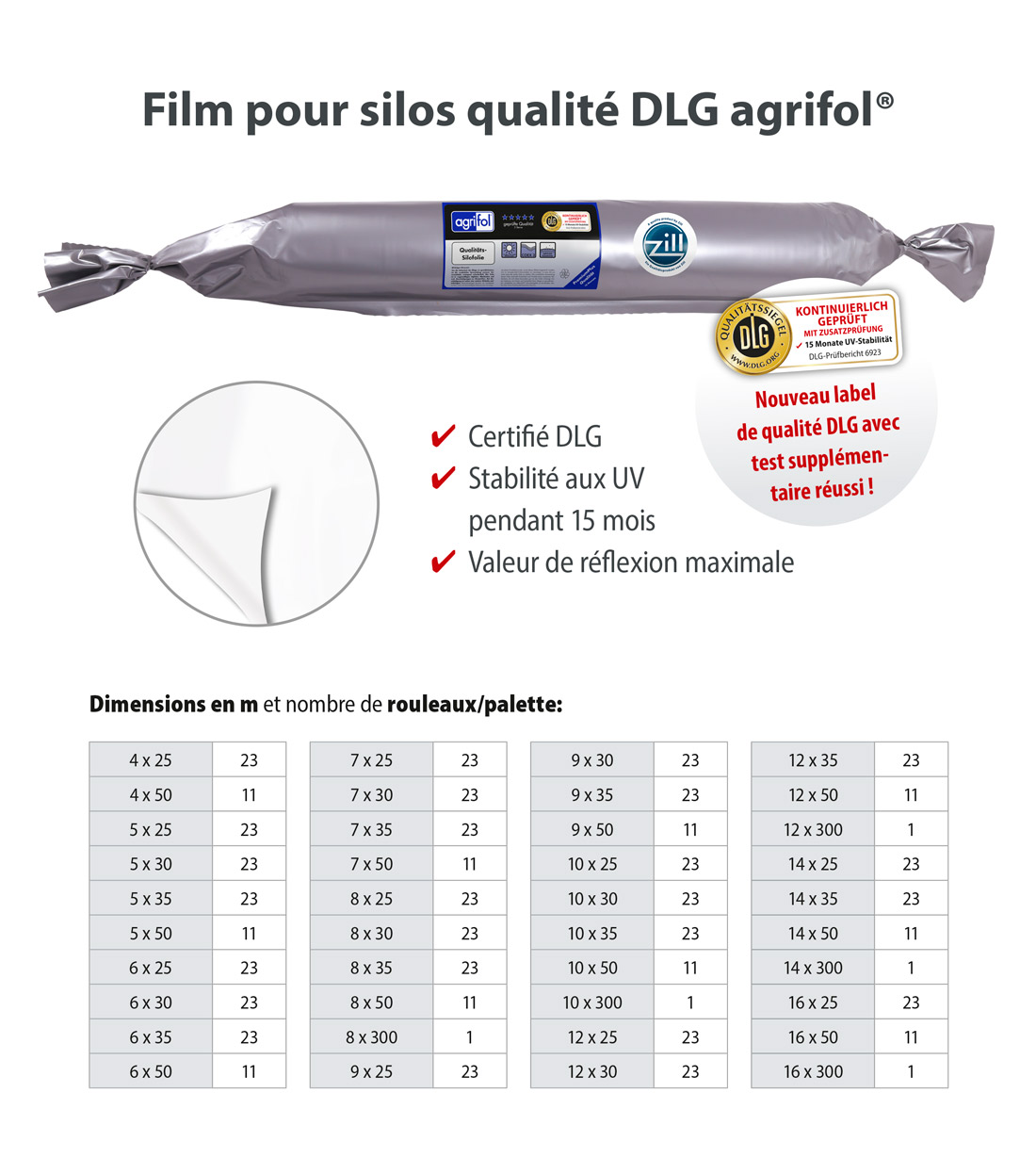 Zill Film pour Silo Quality DLG agrifol