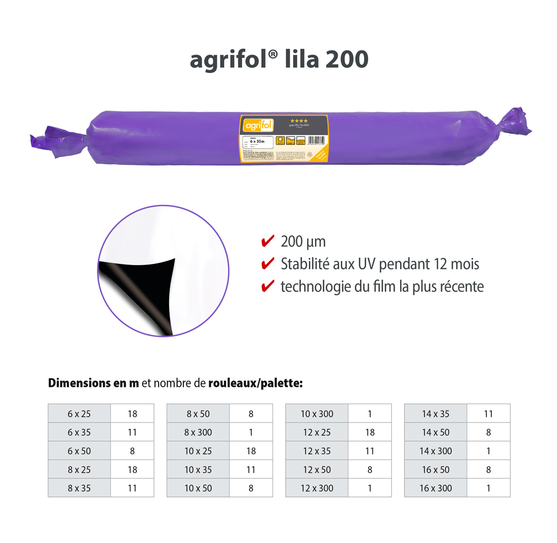 Zill Film pour Silo agrifol lila 200