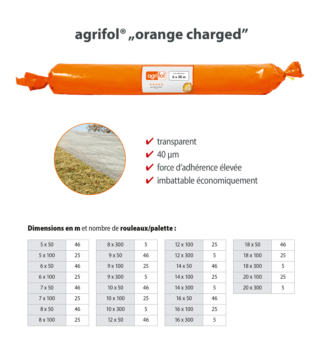 Zill Sous film ensilage agrifol orange charged
